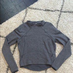 Lululemon Pullover Sweatshirt Crop Gray Sz 8